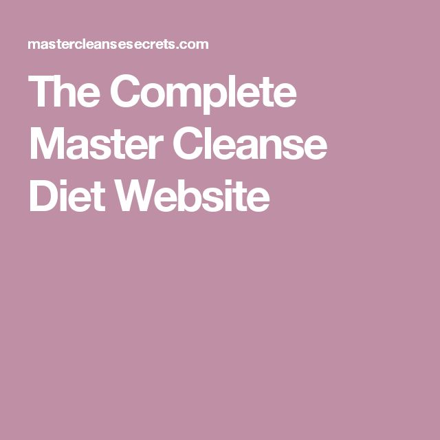 weight loss 40 day master cleanse