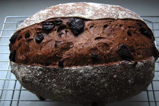 I was reading the chocolate bread recipe in MC's blog Farine, which reminded me I could make it for allergy kid. In Gregoire's bread book, La Boulangerie Baking at Home he has a recipe for a Dark Chocolate and Sour Cherry Bread and I used that recipe to create my [click to continue...]