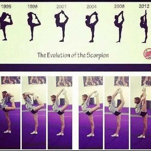 Scorpion to needle | Gym and cheer | Pinterest | Girls, So ...