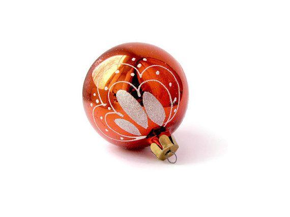 Regalo di Natale sovietico palla di natale decorazioni albero palle russo arredamento vetro viola arancio URSS decorativo ornamento fascino albero Tinsel
