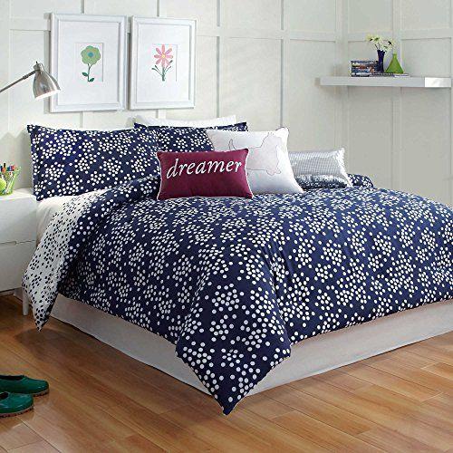 Scatter Dot Polka Dots Navy Blue White Twin XL Comforter Set Liberty http://www.amazon.com/dp/B00O1LOWBM/ref=cm_sw_r_pi_dp_VTVEvb0HCQ84B