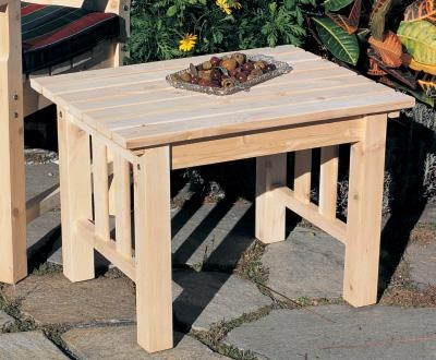 Cabot Side Table   This Cedar Side Table Looks Great Anywhere And Sits  Snugly Alongside Your