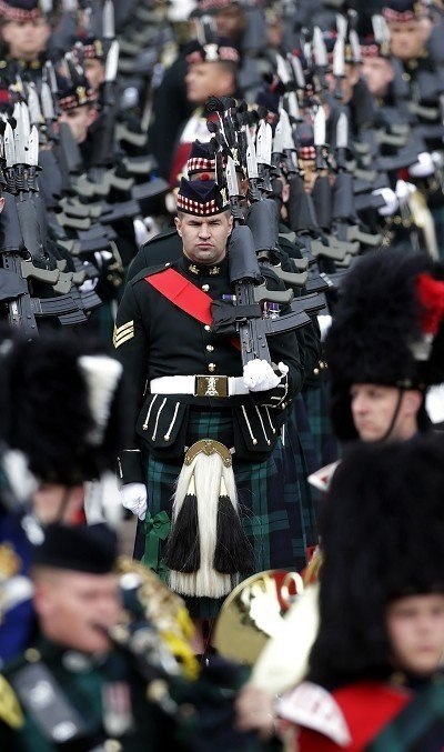 In Scotland, soldiers from the Argyll and Sutherland Highlanders (5 SCOTS) started a series of parades to mark the end of the battalion in its current form. (PA)