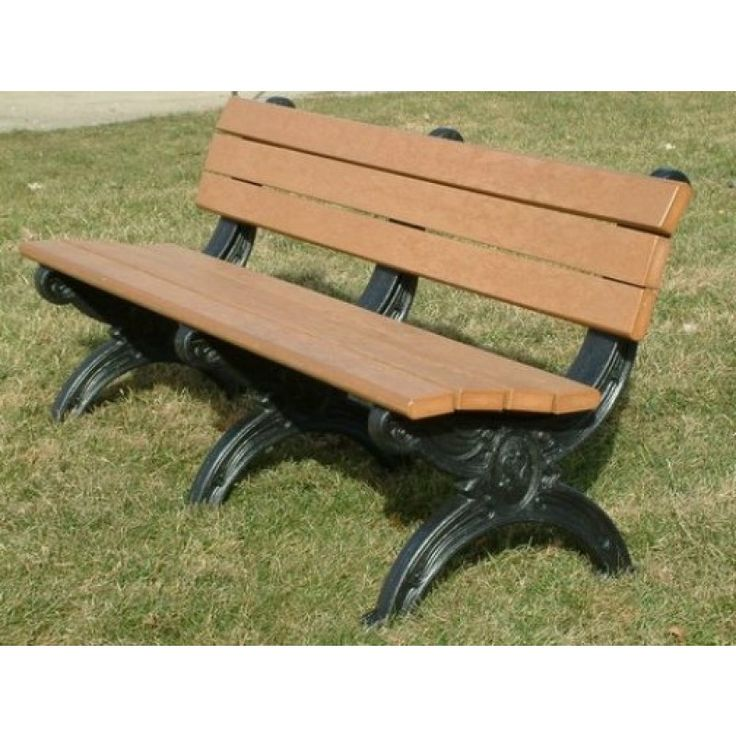 Silhouette 6u0027 Backed Bench By Polly Products   Made In USA Many Colors To  Choose
