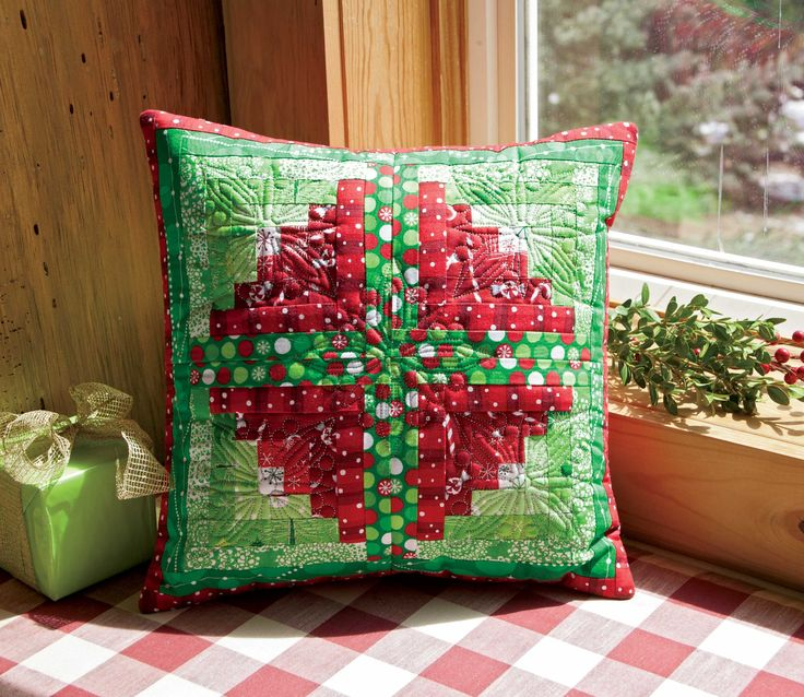 Winter Delights pillow by ZJ Humbach from Best Christmas Quilts 2012