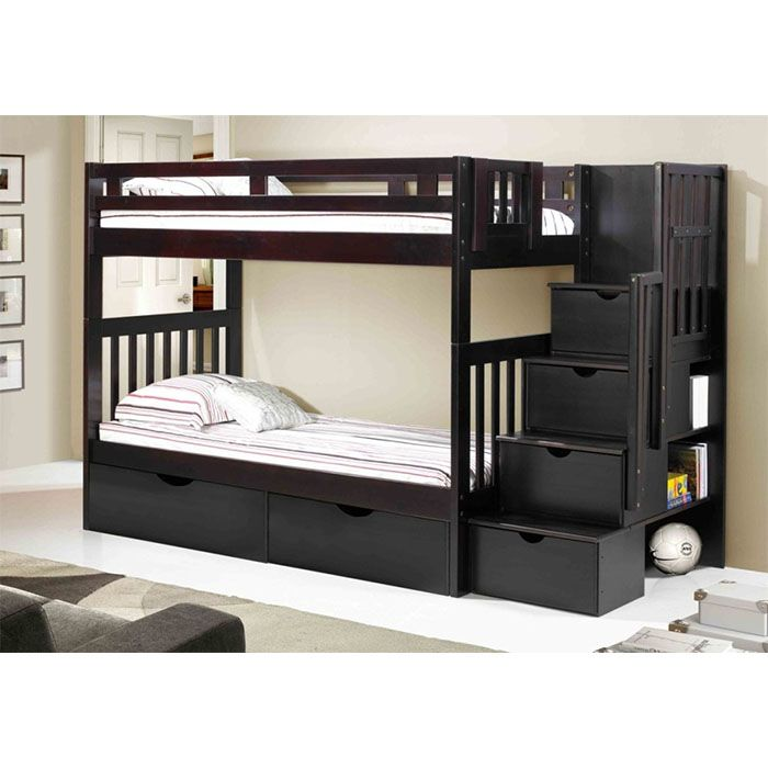 Staircase Bunk Bed Espresso Mattress Superstore Bunk Bed With Stairs And Storage Cheap Bunk Beds Bunk Beds With Stairs