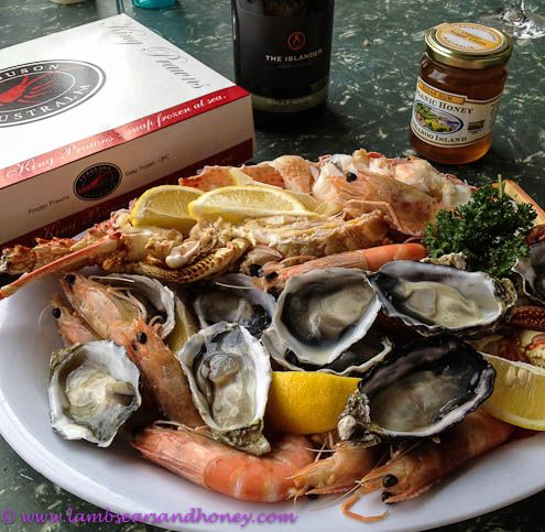 Check out the fabulous seafood and shellfish on the Kangaroo Island food trail.