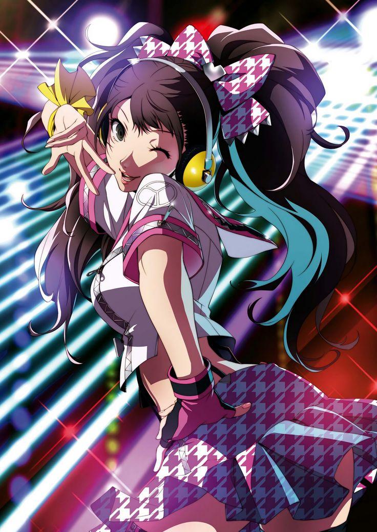 Tags: Shin Megami Tensei: PERSONA 4, Kujikawa Rise, Soejima Shigenori, Official Art, PNG Conversion