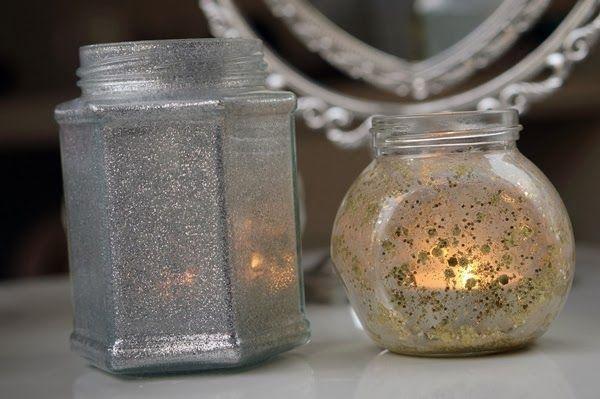 DIY Glitter Waxine Houder ~ Beautyill | Beautyblog met nail art, nagellak, make-up reviews en meer!
