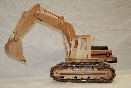 trator de madeira