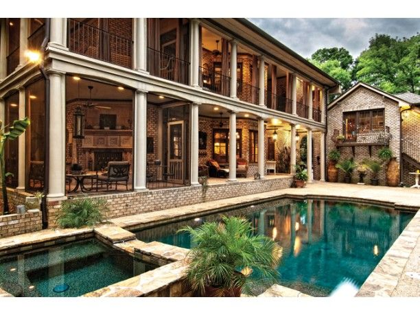 Exterior Courtyard Of The Wilfert Point Home Plan By Sater Designs 2909 Sq Ft Plus 426 Sq Ft