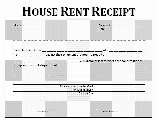 Rent Payment Receipt Template Elegant Rent Receipt Format For