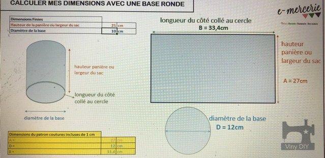 Outil de calcul de dimensions avec une base ronde – Calculateur Base Ronde Viny DIY ⋆ Les Tutos Couture de Viny – Blog de Couture et DIY