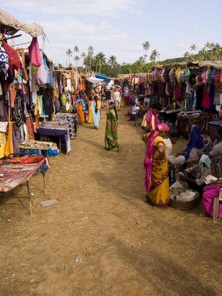 India-Anjuna Goa.  Marketplace, Goa, INDIA.