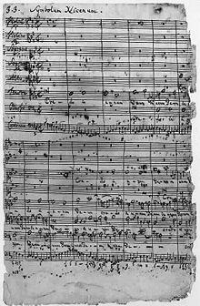 J.S. Bach manuscript.