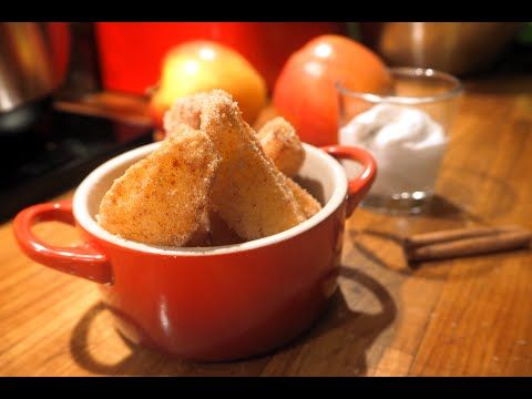 Apple fries with coconut dip video by Food Emperor