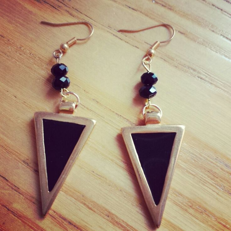 Earrings with black enamel!!!