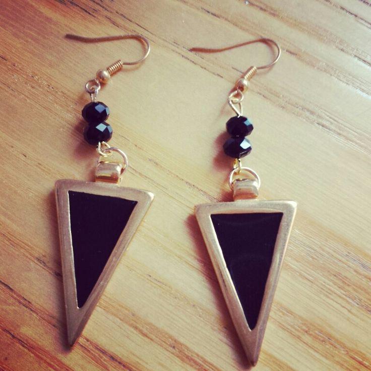 Earrings with black enamel!!!