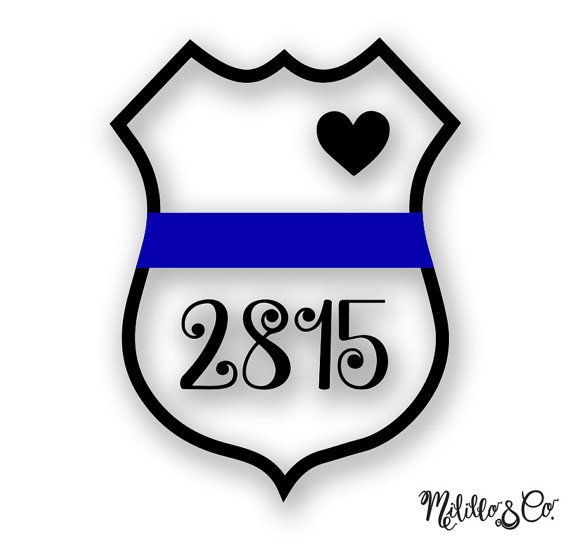 Thin Blue Line Police Wife Car Decal Sticker  by MililloAndCo