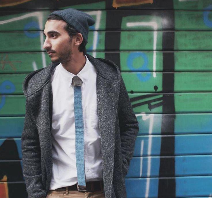 Rome Streetwear  #modular #accessory #neckwear #madeinitaly #noknots #tie #cravatta #man #style #double #side #eclectic #eclepti