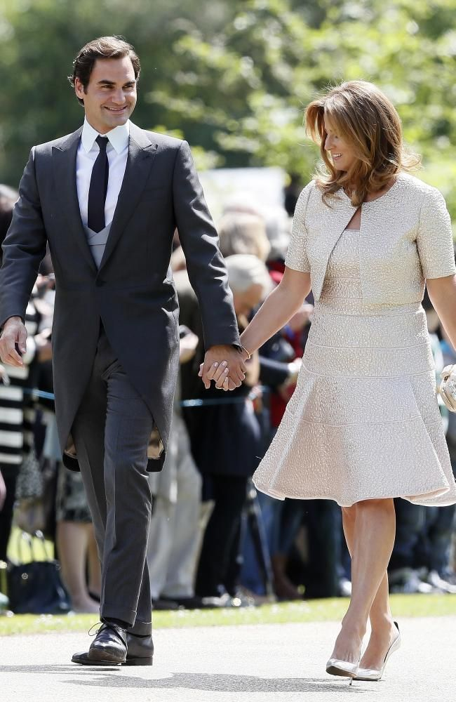Tennis Legend Roger Federer And His Wife Mirka Arrive Ahead Of The Wedding Pippa Middleton Wedding Roger Federer Pippa Middleton