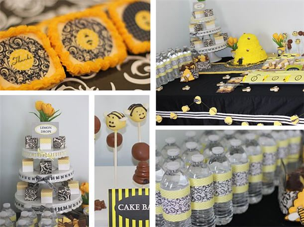 24 Best Baby Shower Mother To Bee Theme Images On Pinterest