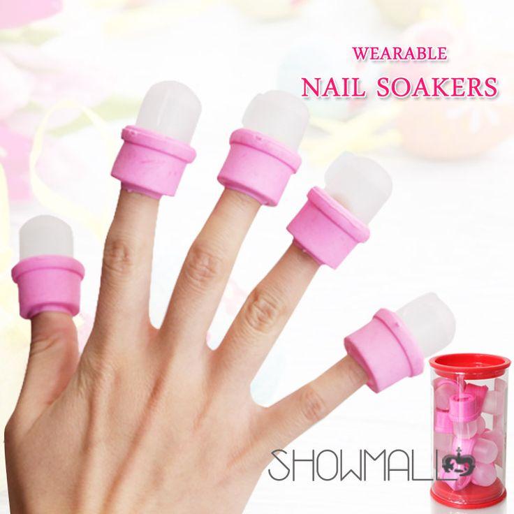 Alta qualidade 10 prego Wearable Soakers unha polonês remover DIY acrílico UV Gel Cap Tip Set ferramentas unhas unhas de Gel profissional alishoppbrasil