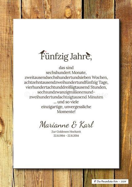 Druck/Print: Geschenk zur Gold- und Silberhochzeit von Die Persönliche Note auf DaWanda.com – Nicole Eckert