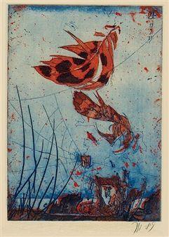 Feder, 19. März 1989 By Horst Janssen ,1989