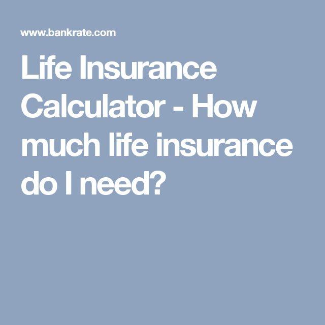 Life Insurance Calculator   How Much Life Insurance Do I Need?