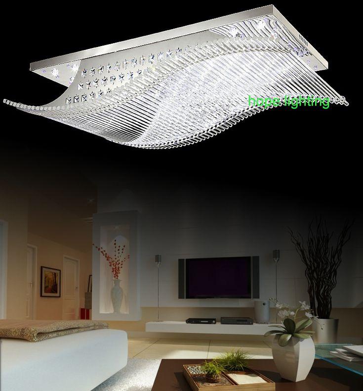 современные прямоугольник потолочное освещение фойе номер современный хрустальные люстры потолок пульт ду потолочное фары для гостиной большой современные потолочные светильники кристалл освещение потолков