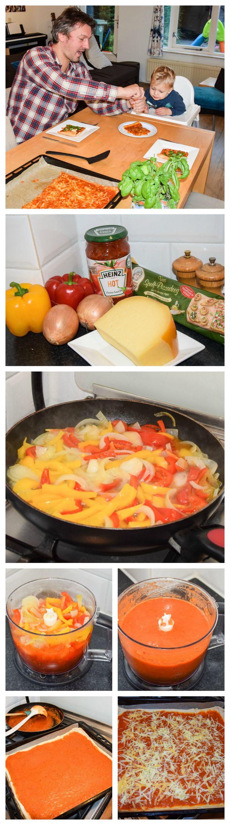 Met deze pizza 'margarita' kun je zonder dat je kind het merkt extra groente in de saus verstoppen.