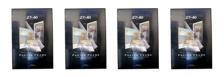 Value Pack Four 27x40 Movie Poster Frames Solid Backing Fully Assembled 27 x 40