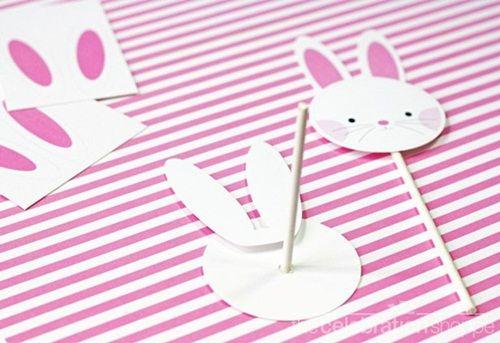 ¡Descarga estos conejitos de Pascua y alegra tus postres!