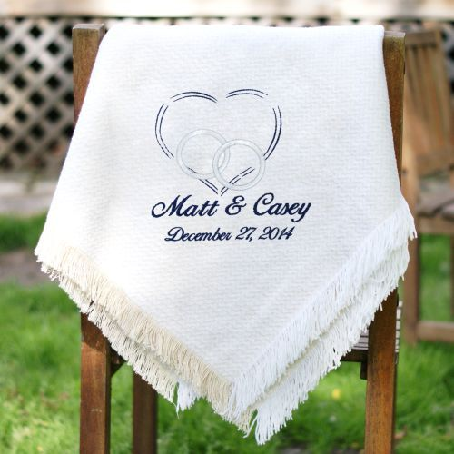Embroidered Wedding Afghan | Newlywed Afghan
