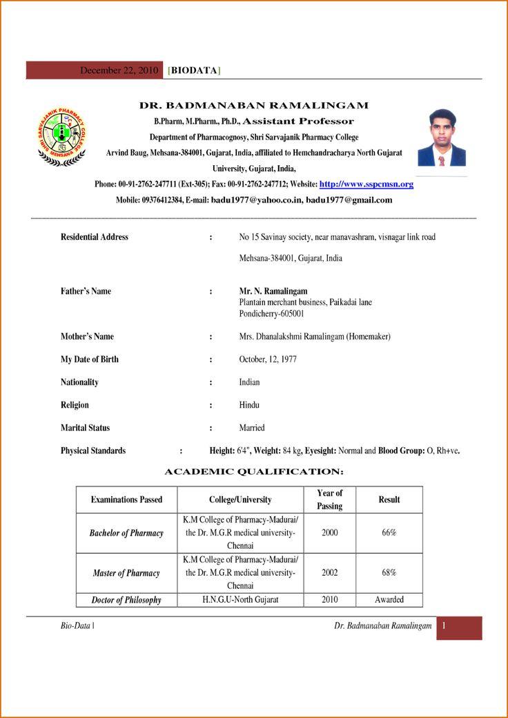 Indian School Teacher Resume Format Teacher resume