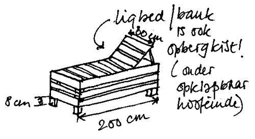 Wat een luxe: je eigen, verstelbare ligbed gemaakt van duurzaam Douglashout* dat in de loop van de tijd vergrijst en er alleen maar mooier op wordt.