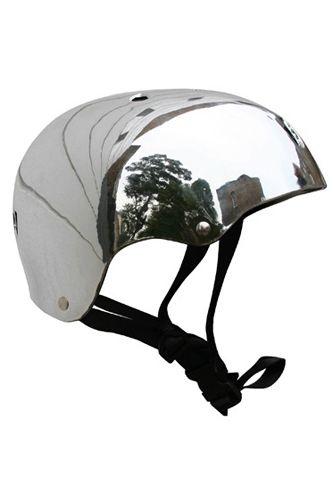 Bobbin Bicycles Silver Helmet, $54.30, available at Bobbin Bicycles.