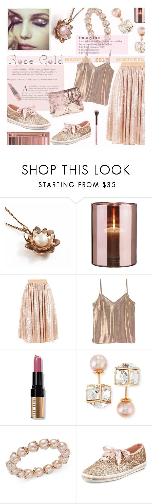 """🎀 #615 ✨😊✨  Magickal 2017      #rosegold"" by wonderful-paradisaical ❤ liked on Polyvore featuring Vicky Davies, Urban Decay, Skogsberg & Smart, A Day in a Life, Bobbi Brown Cosmetics, Vita Fede, Charter Club and Kate Spade"