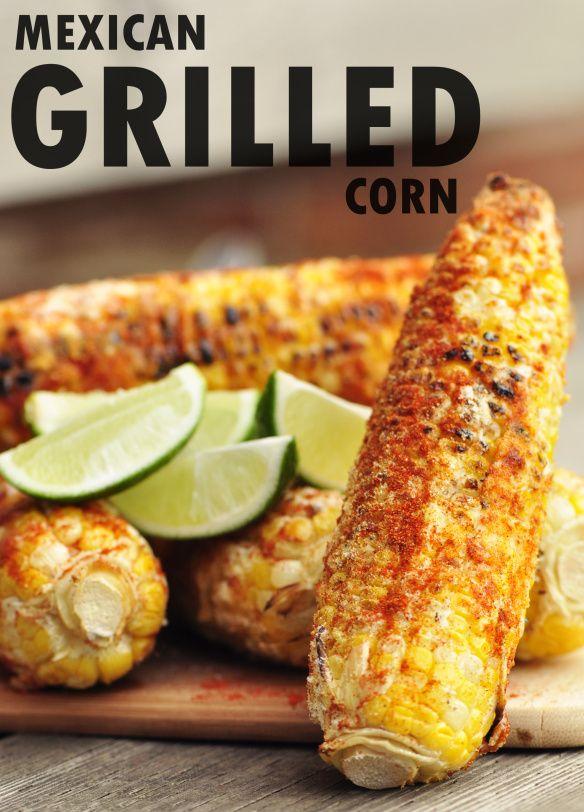 The one and only best recipe of Mexican Grilled Corn!  We even like it without the lime!