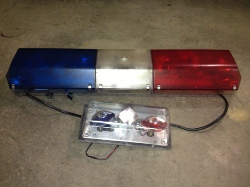 Police Red/Blue Light Bars LISTING # 14793 Ends: 2/7/2013 6:00:00 PM Eastern