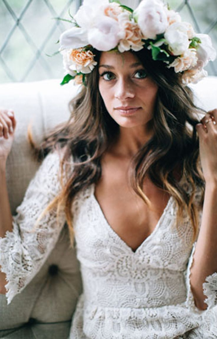 French Lace Maxi Gown  550.00 For free spirited brides, this French lace gown represents Bohemian chic its best. With bell sleeves and tiered floor length skirt is ideal for a wedding in a breathtaking natural setting.