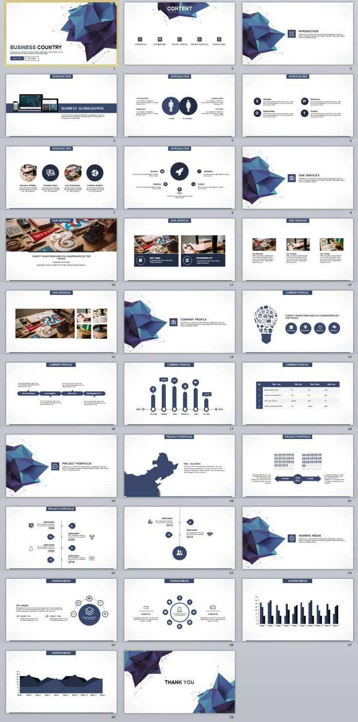 29+ white Business PowerPoint templates