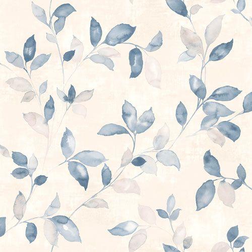 Vackra slingrande blad i blå nyans från kollektionen Arcadia AC-18553. Klicka för att se fler fina tapeter för ditt hem!