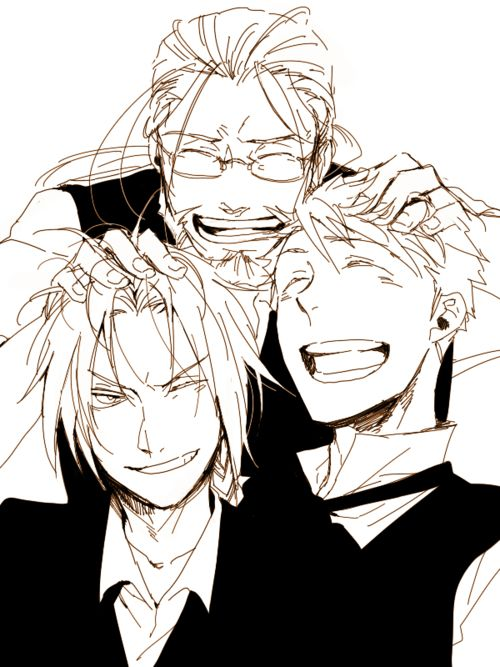 Hohenheim, Edward, and Alphonse
