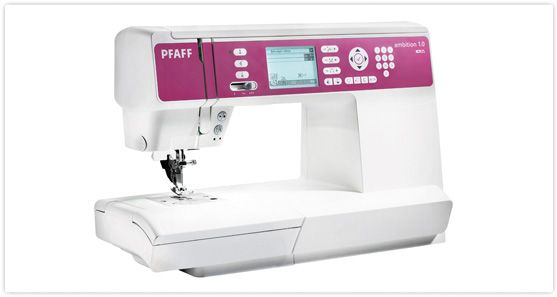 ambition™ 1.0  The difference is in the details!    Experience the new PFAFF® ambition™ 1.0 and feel the difference that makes these sewing machines truly special.    Spacious.   The largest sewing space* and the long free-arm makes sewing any size project effortless.    Bright.   The perfectly illuminated sewing area and the large high-resolution screen will optimize your work process.    Precise.   The original IDT™ System guarantees absolutely even fabric feed from top and bottom.