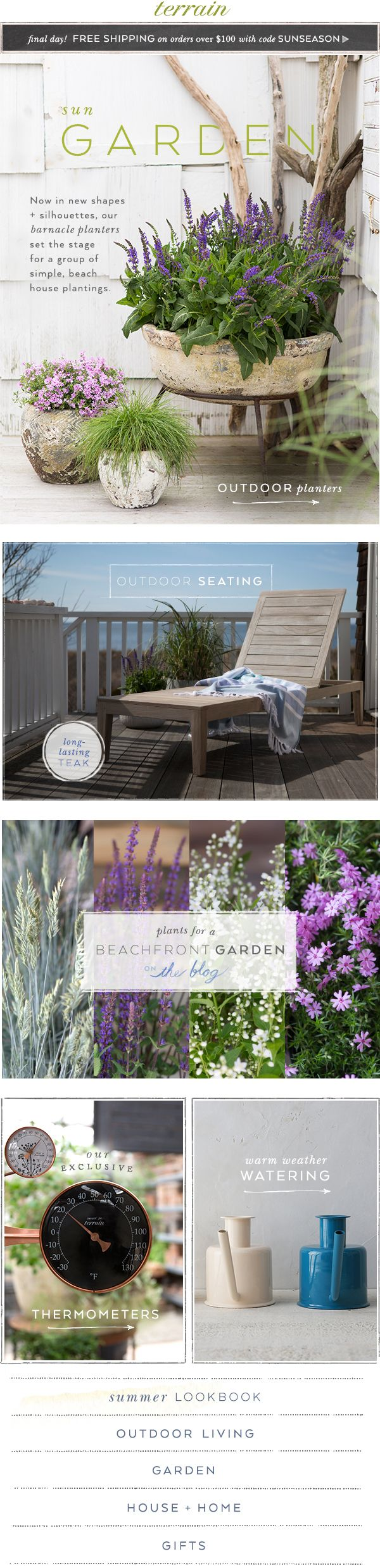 Plant a #beachfront #garden in our favorite #barnacle #planters at #shopterrain May 25