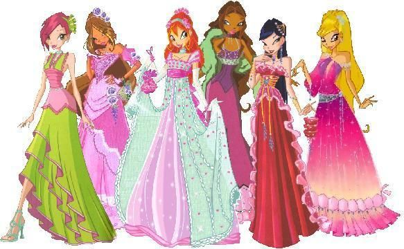 Winx Club Dress Up | here are the winx girls all dressed up to party sadly it doesn t have ...