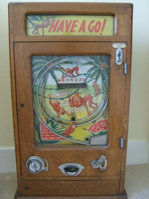Collectibles-General (Antiques): value of 'Have a Go' old penny arcade game, pin ball game, penny arcade