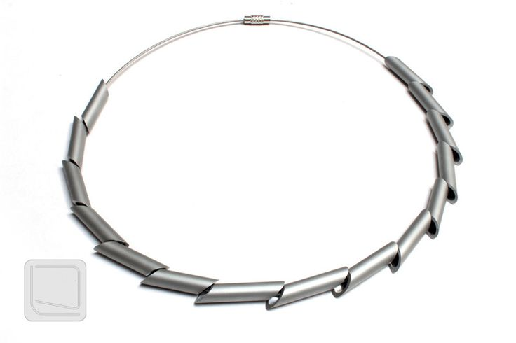 Other – CUBIC- aluminium necklace MNH02 – a unique product by CUBICdesign on DaWanda